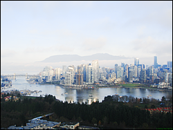[Downtown Vancouver overlooking False Creek, Vancouver, British Columbia, Canada]
